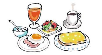 朝ご飯350